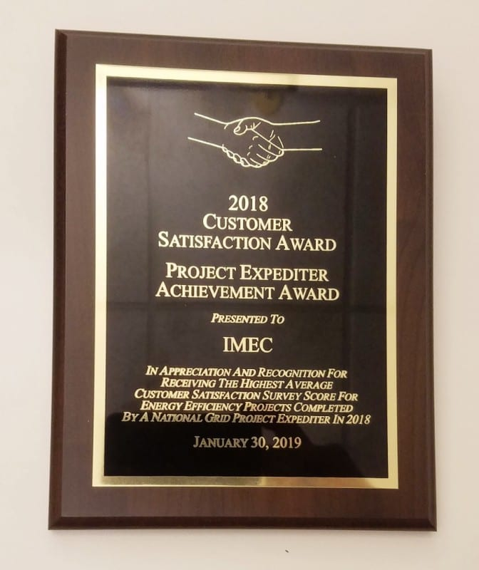 National Grid Recognizes Imec With Project Expeditor Award